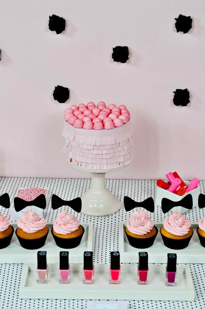Présentoir à gâteaux rose Miss Etoile
