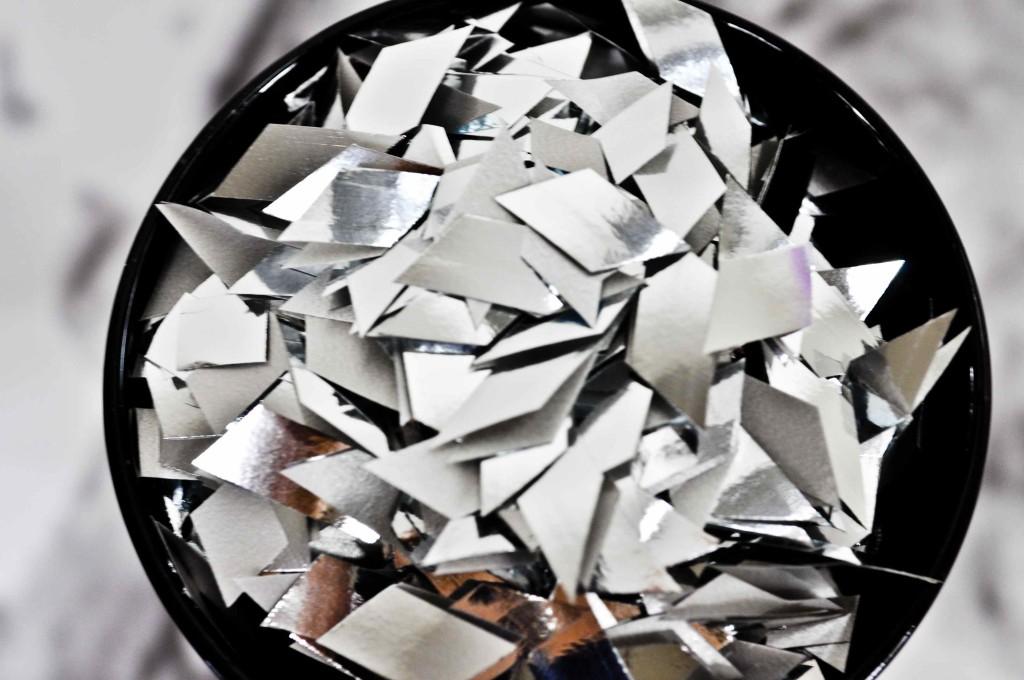 confettis argent