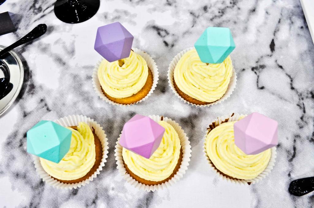 cupcakes et toppers diamant