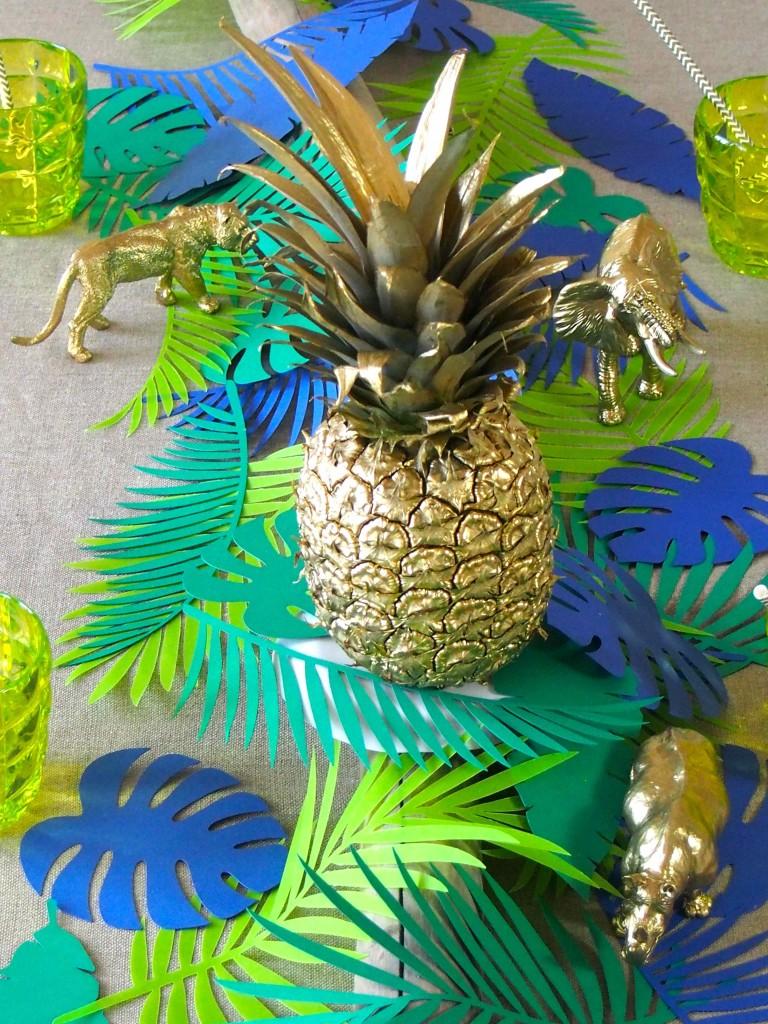 ananas doré décoration