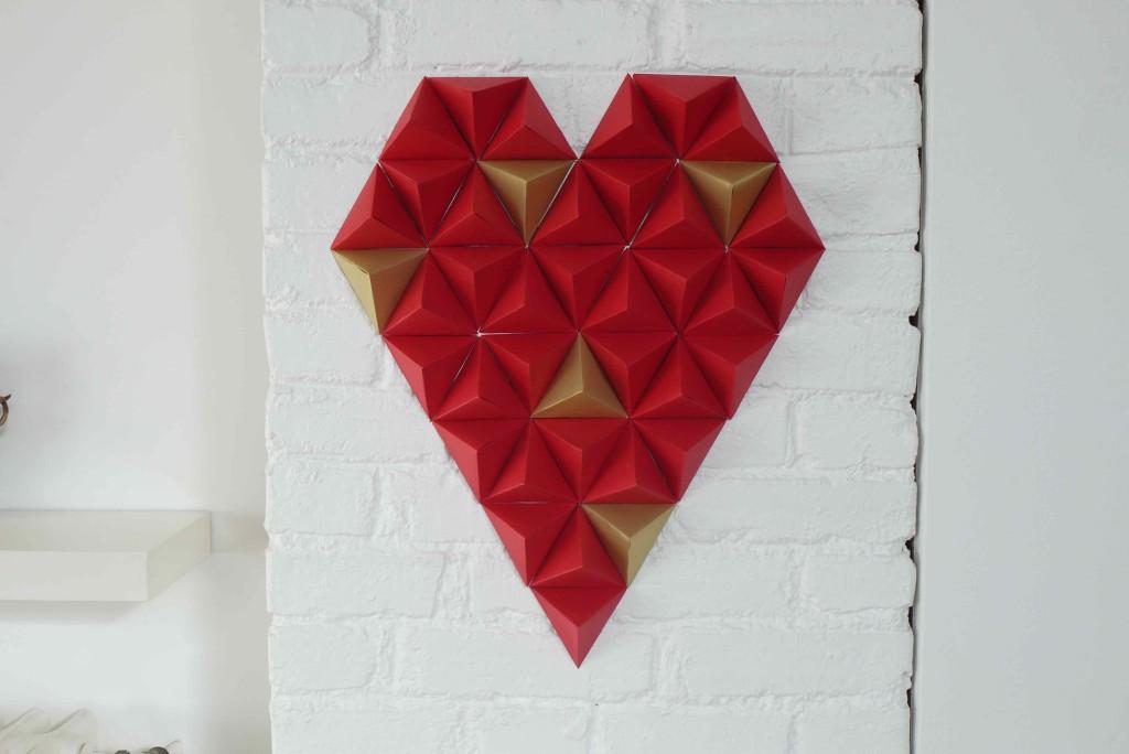 coeur triangles 3D