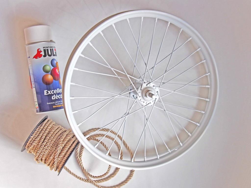 matériel décoration roue de vélo