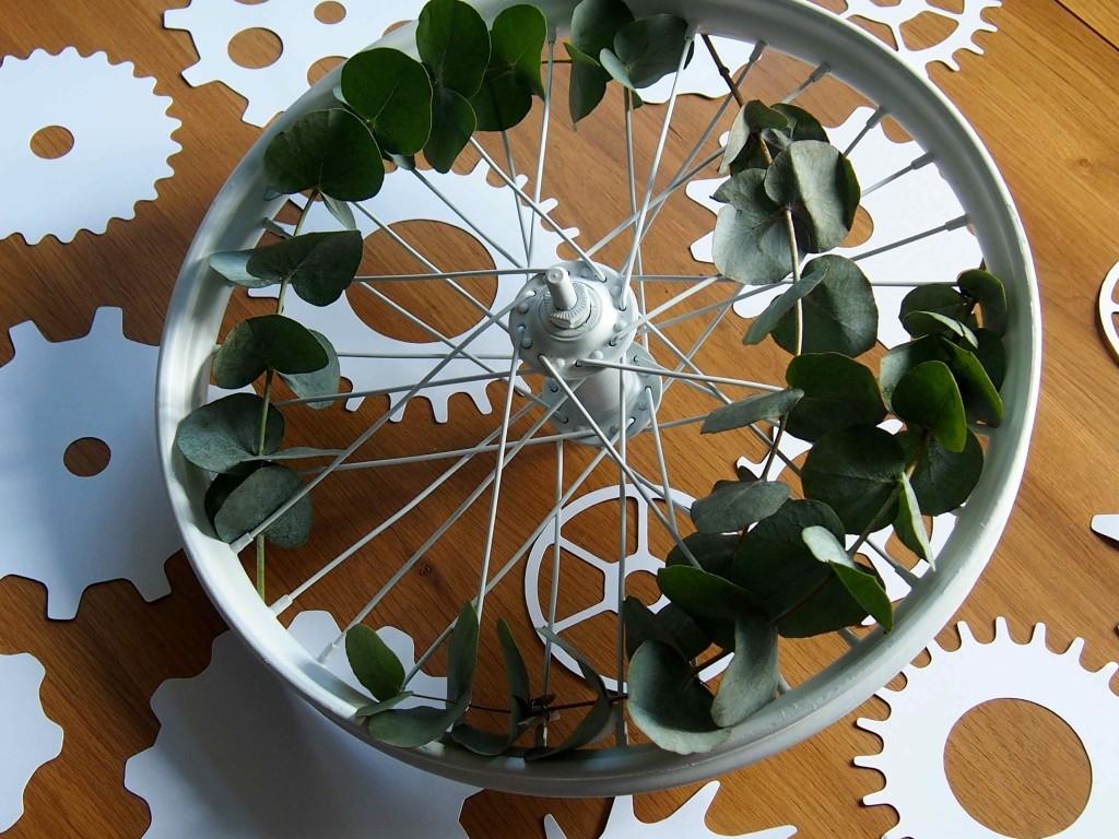décoration roue de vélo