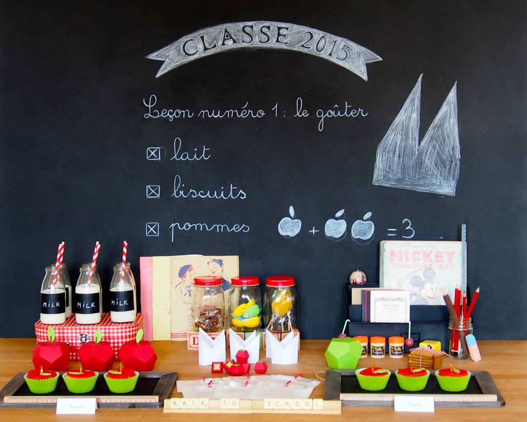 sweet table école