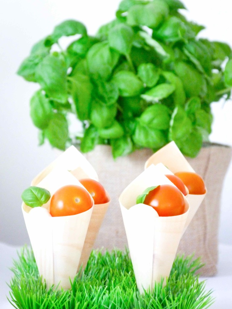 cornets tomates mozzarella