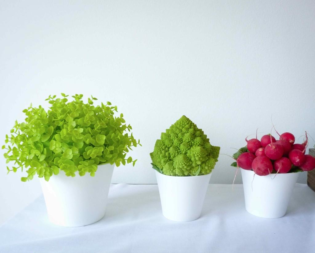 décoration bar à légumes