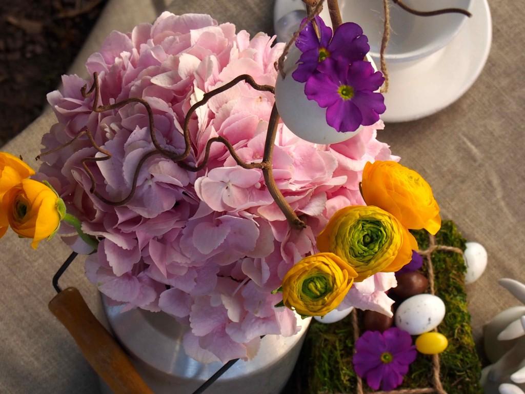 fleurs décoration pâques
