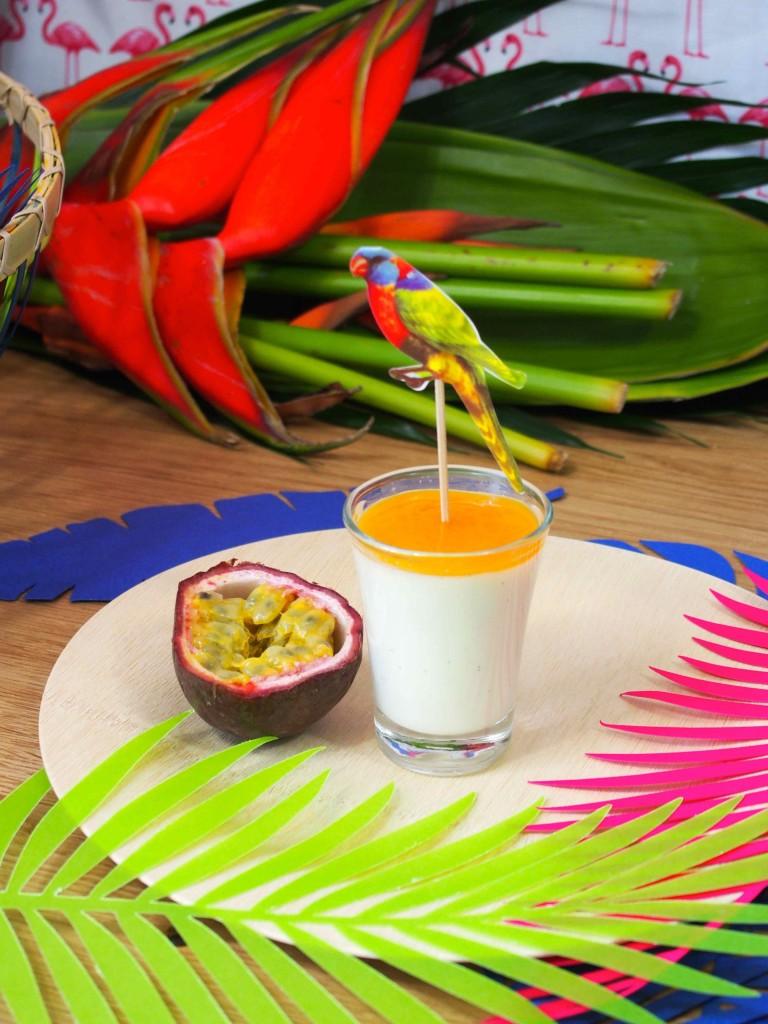 assiette bambou tropical