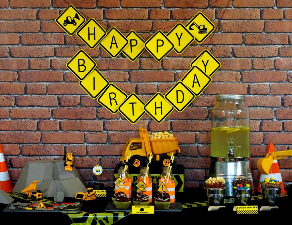 construction party anniversaire