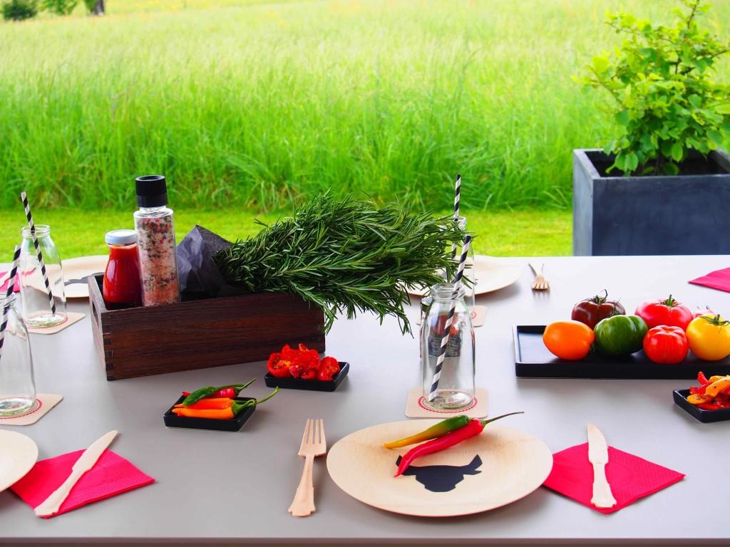 décoration de table barbecue