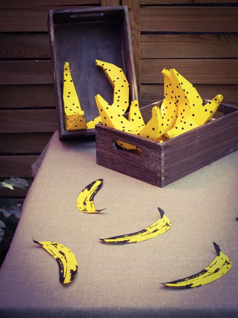 bananes en papier