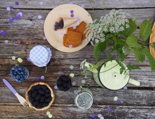 décoration de table pour goûter d'été