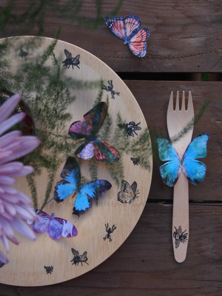 décoration papillon bohème