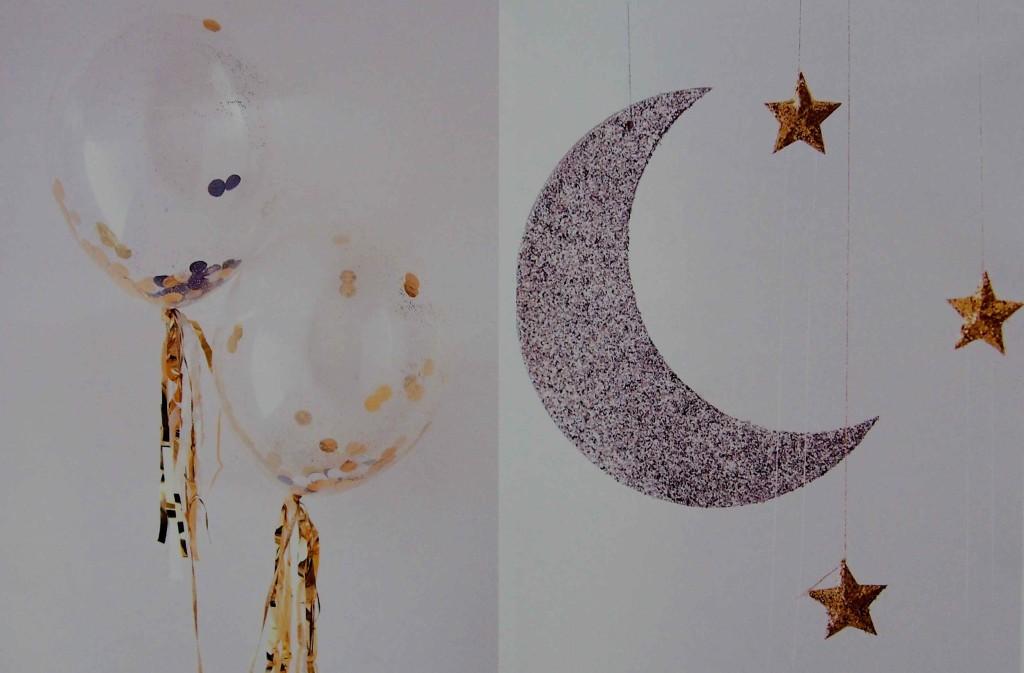 décoration étoiles et lune