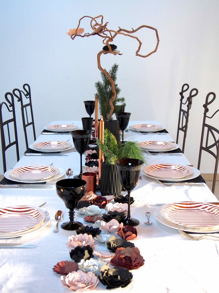 table cuivre et marbre