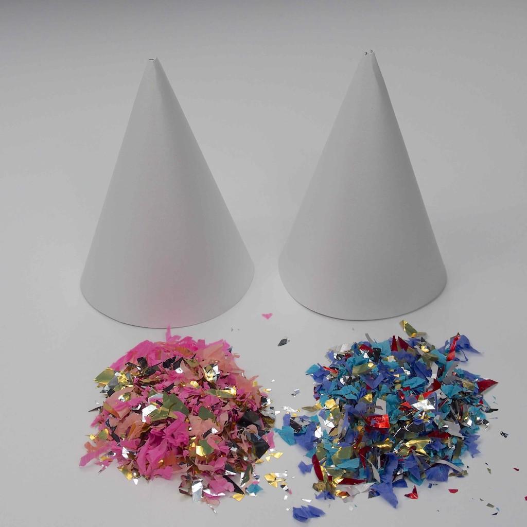 chapeaux confettis