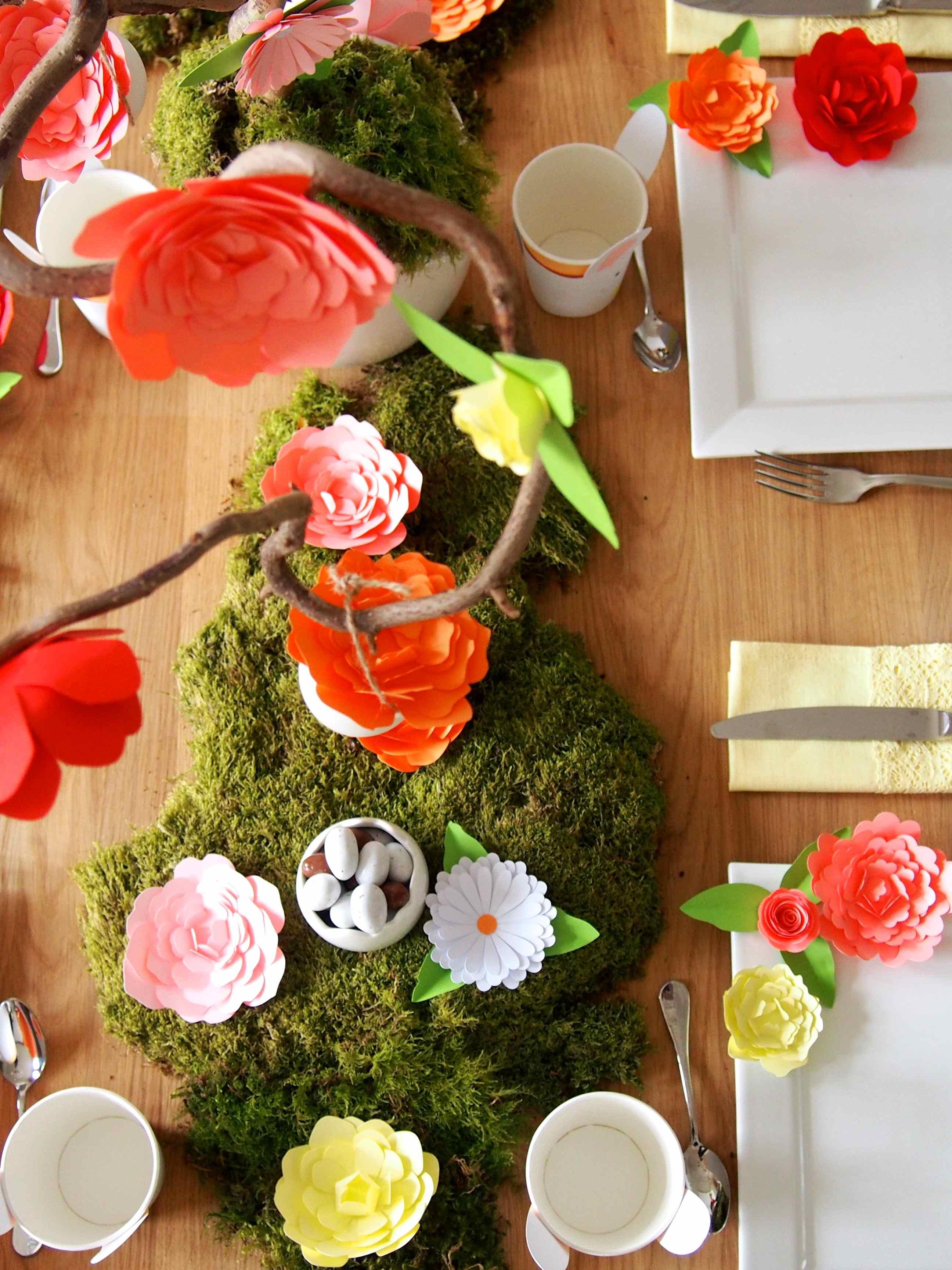 Ma table de p ques rose caramelle carnet d 39 inspiration - Centre de table pour paques ...