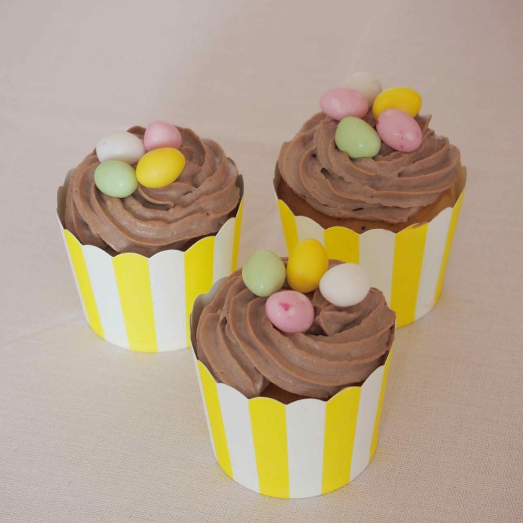 cupcakes nids oeufs