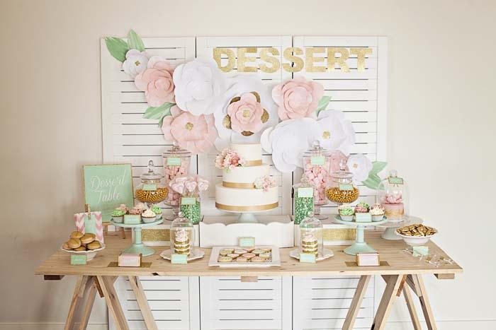 décoration de fleurs sweet table