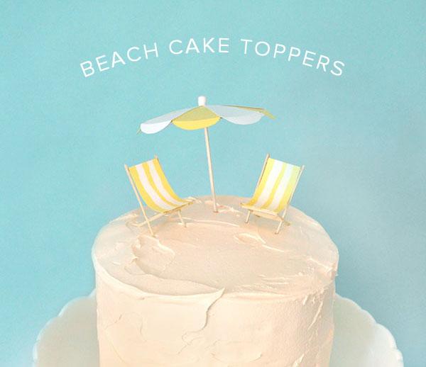 cake topper vacances été