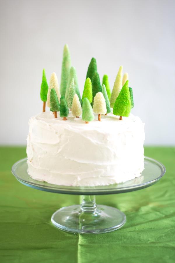 cake topper forêt