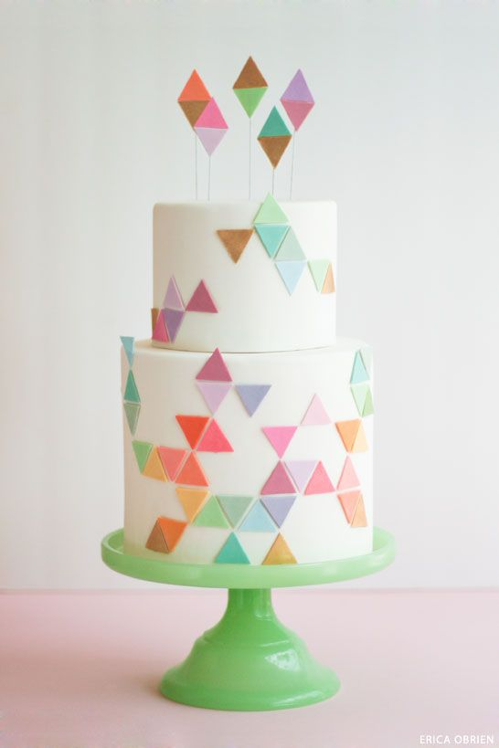 cake topper géométrique