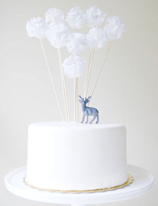 cake topper pompons