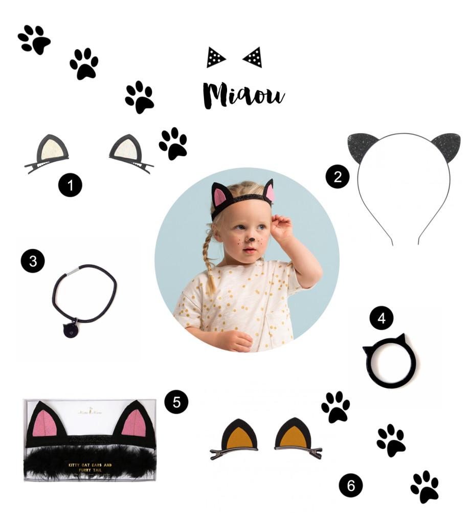 accessoires de déguisement chat