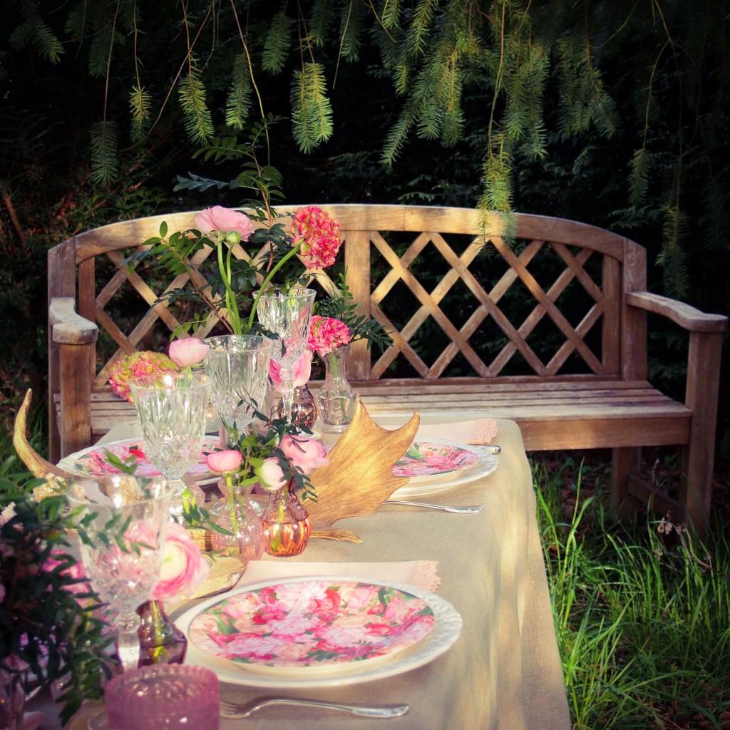 décoration de table fleurie