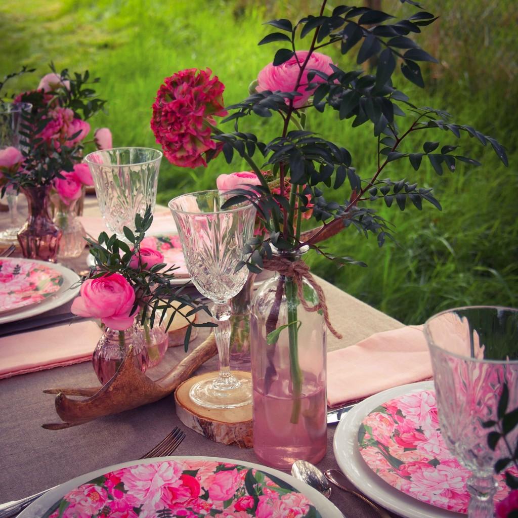 deco de table rose