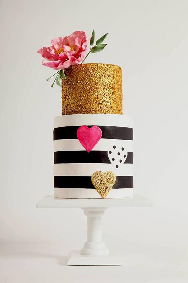 gâteau rayures noires
