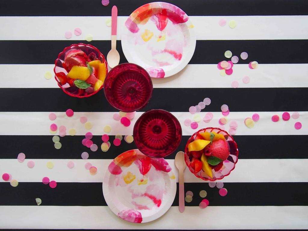 table déco florale