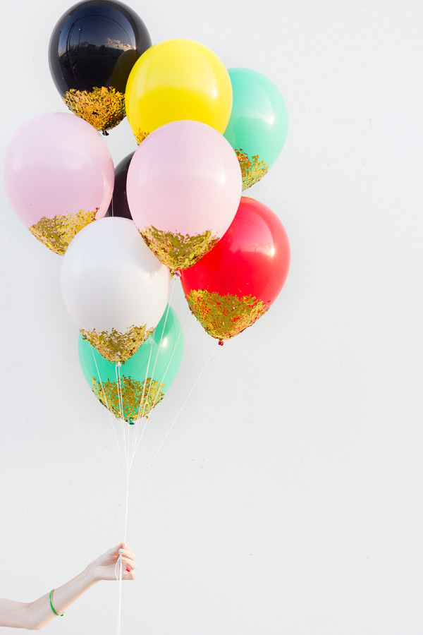ballons confettis DIY