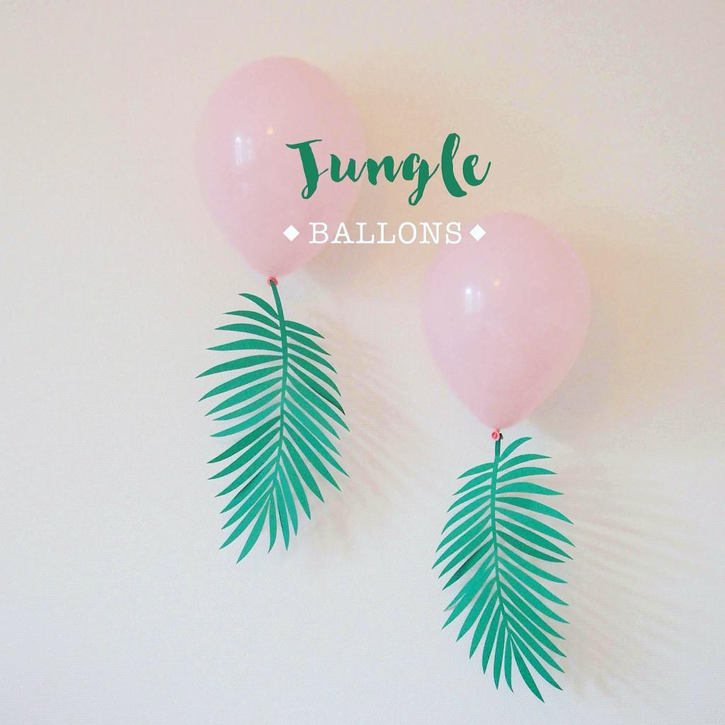 ballons jungle tropicale