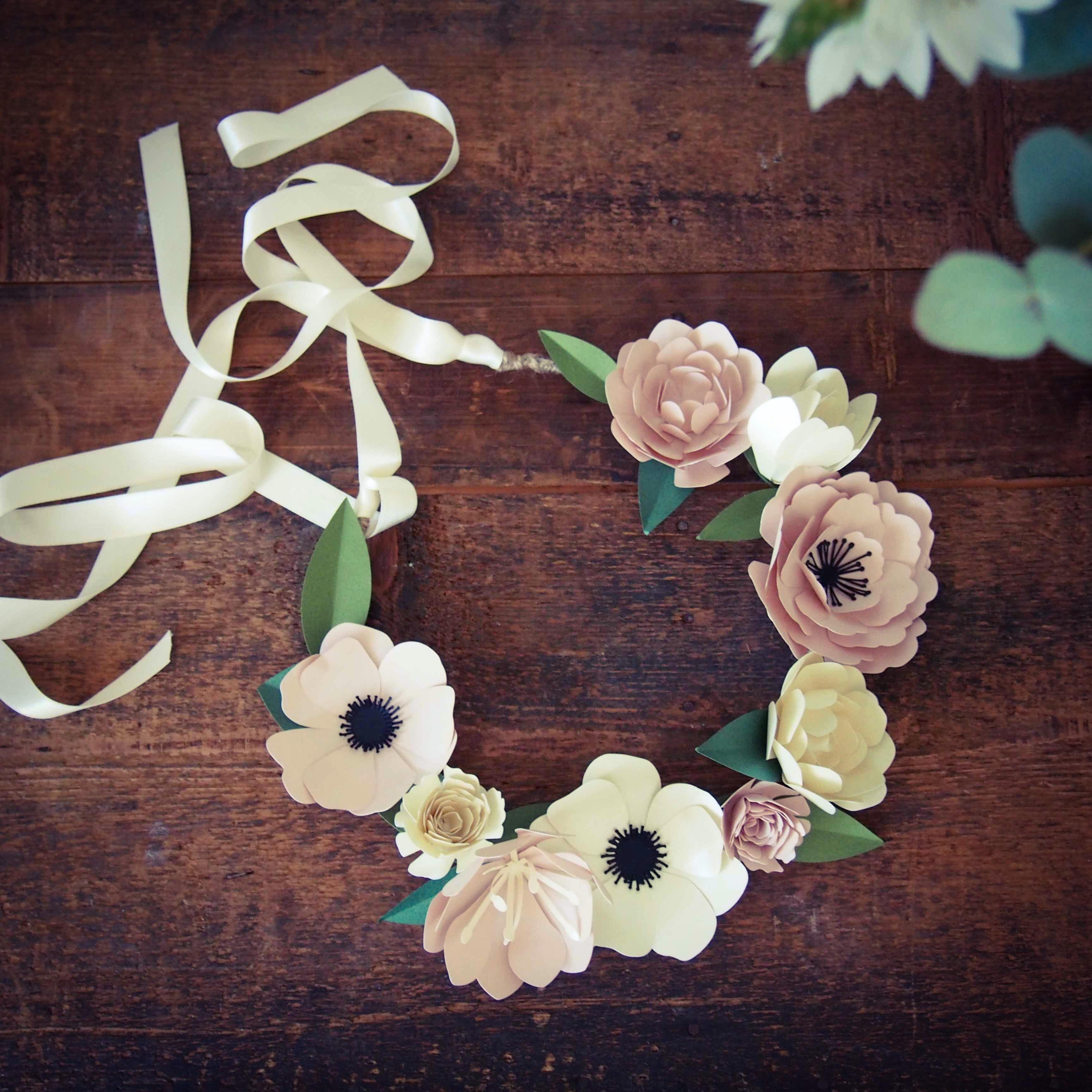 Ma couronne de fleurs rose caramelle carnet d 39 inspiration - Diy couronne de fleurs ...