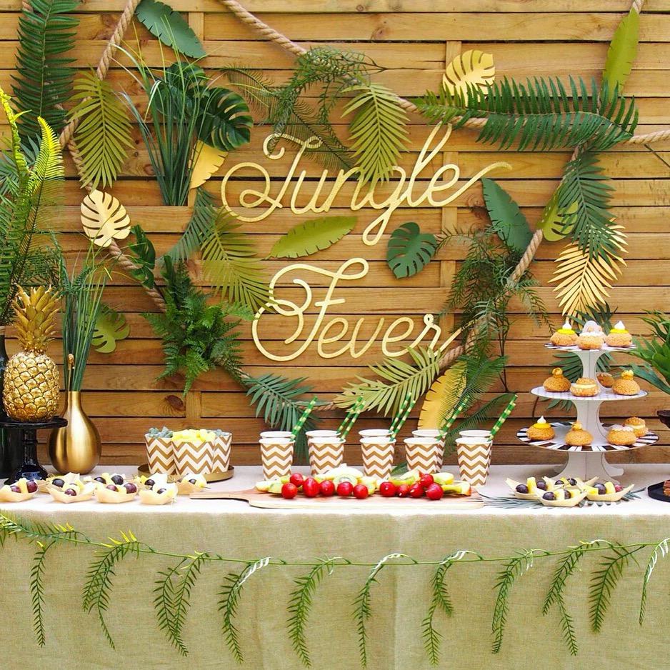 jungle party  u2013 rose caramelle  u2013 carnet d u0026 39 inspiration