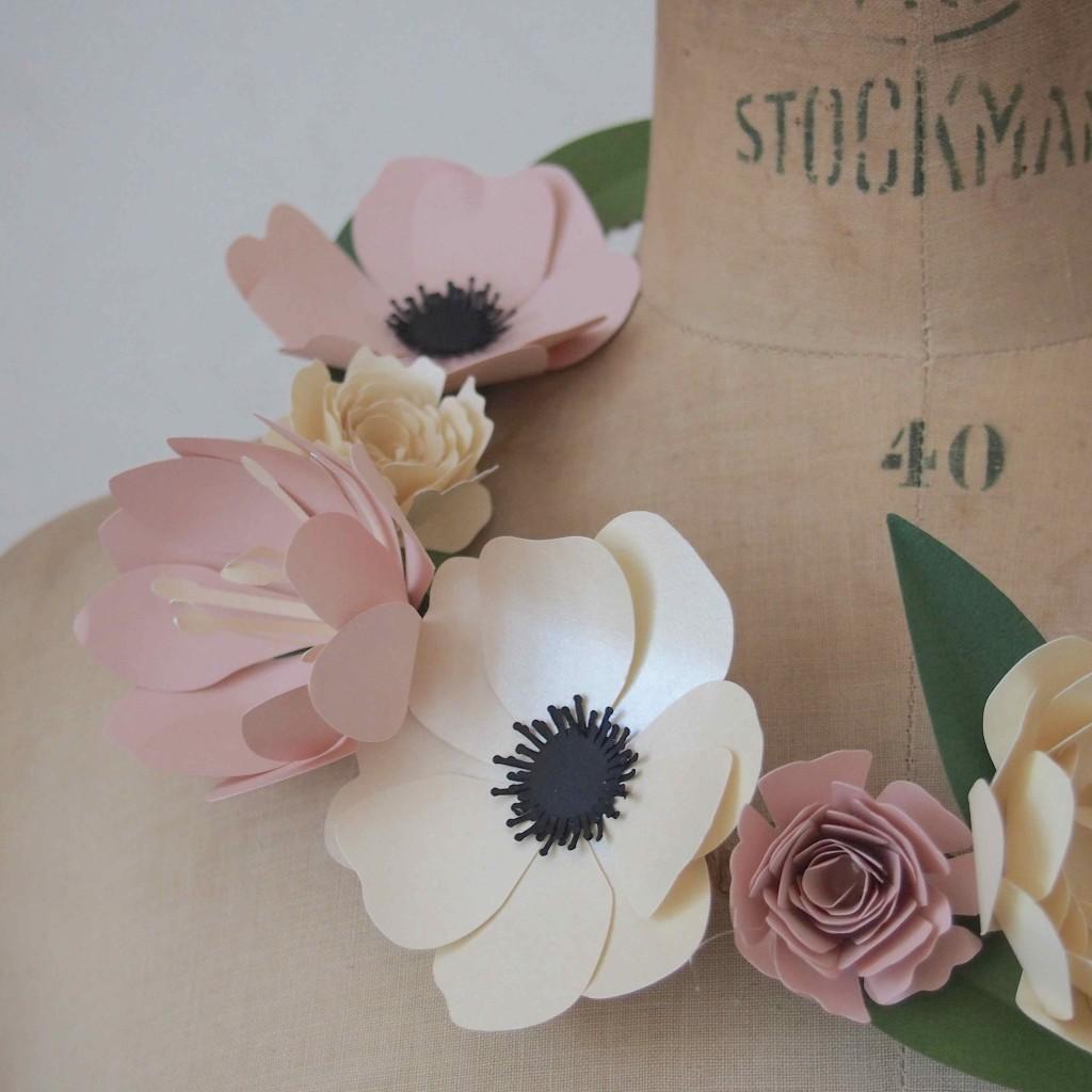 fleurs en papier diy