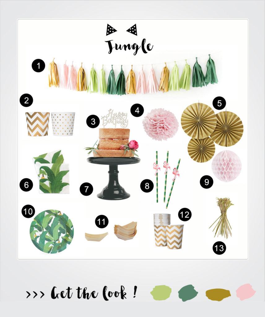 jungle party rose caramelle carnet d 39 inspiration. Black Bedroom Furniture Sets. Home Design Ideas