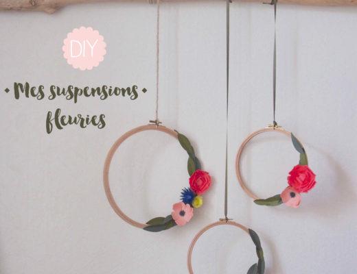 suspensions fleuries
