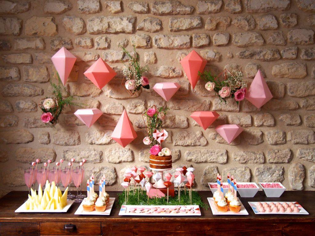sweet-table-geometrique