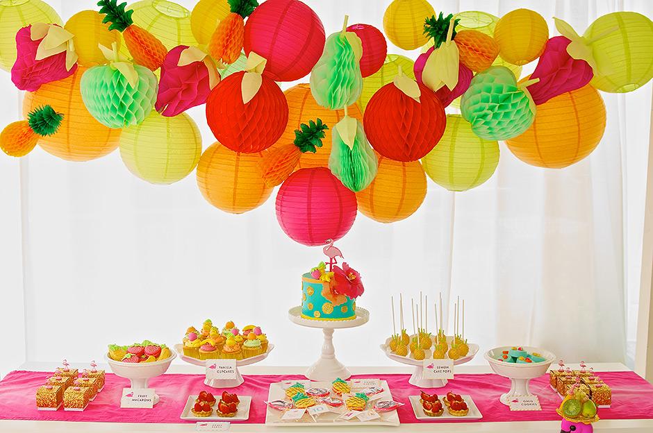 Decoration Anniversaire Fruits