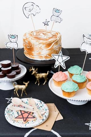 cake-topper-animaux-foret