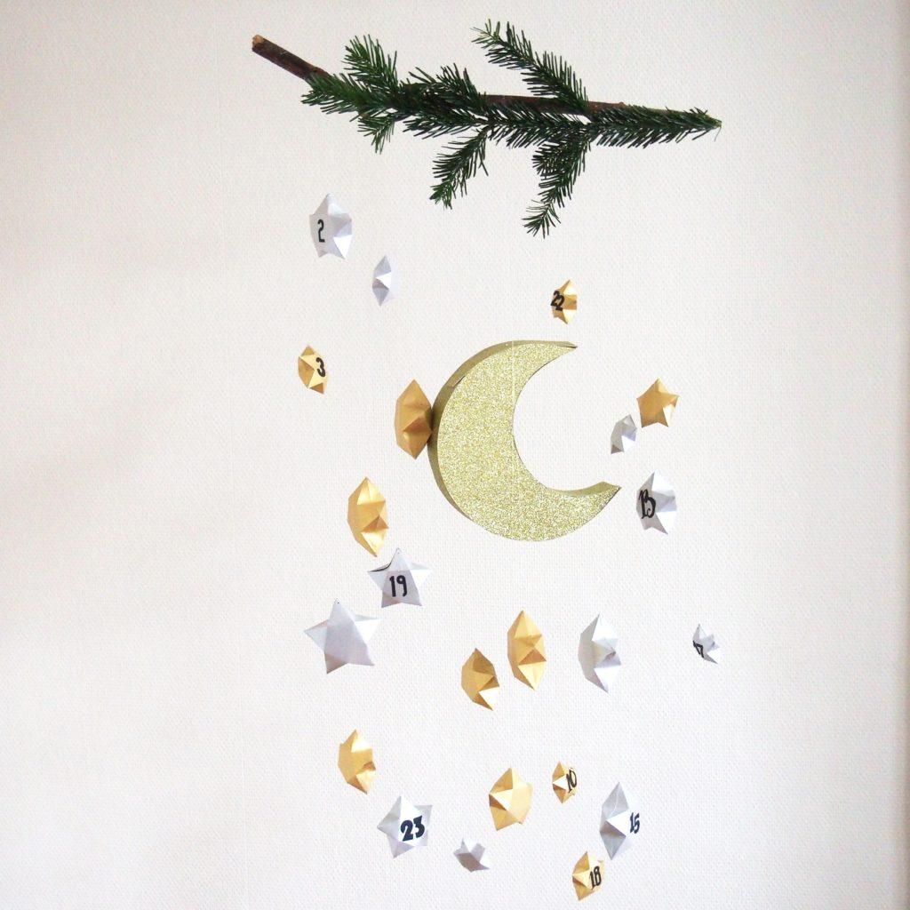 calendrier étoiles diy