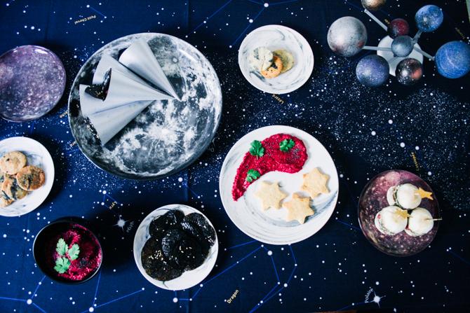 anniversaire sweet table planètes étoiles