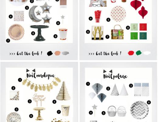 Idées de décoration de table noël et fêtes