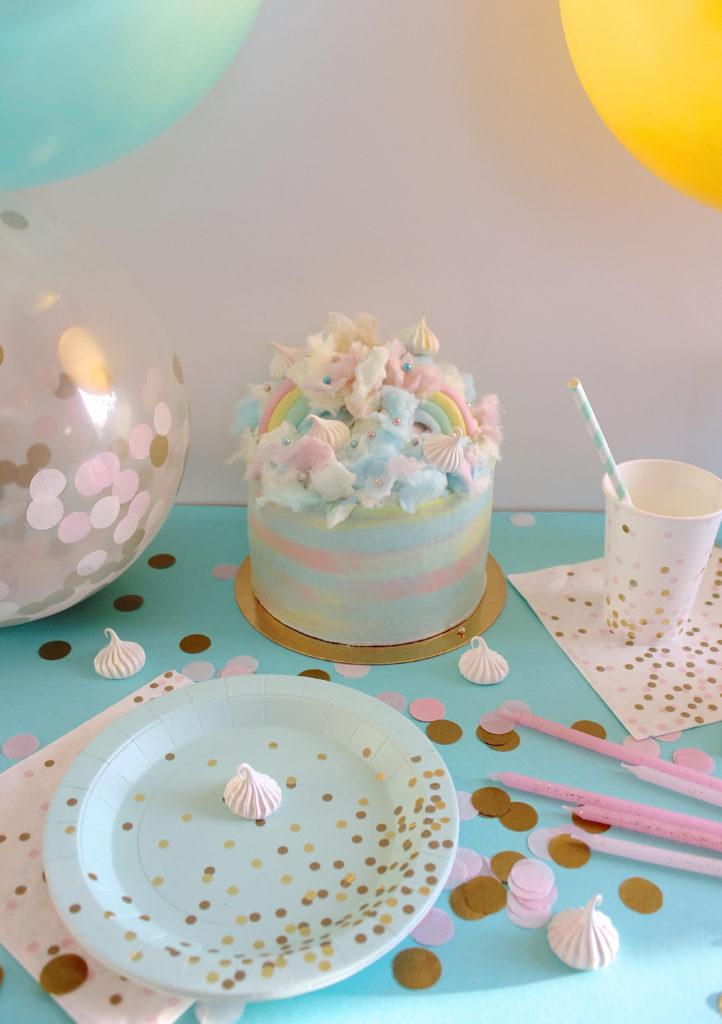 anniversaire décoration pastel