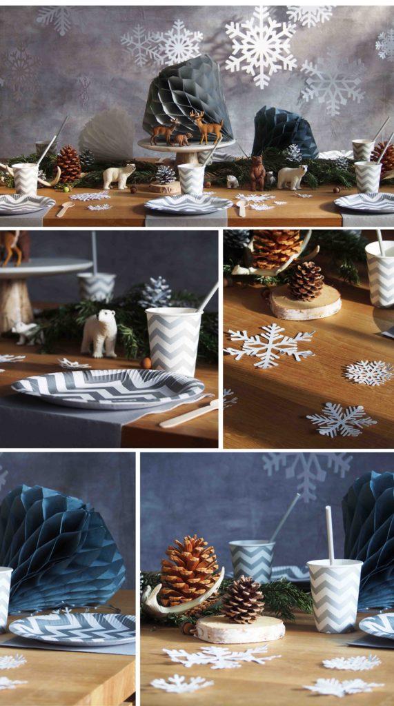 déco de table reine des neiges