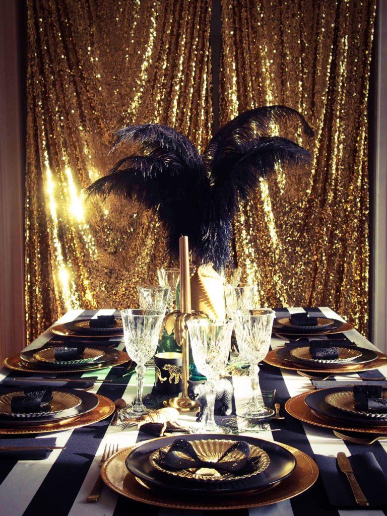 décoration fête doré