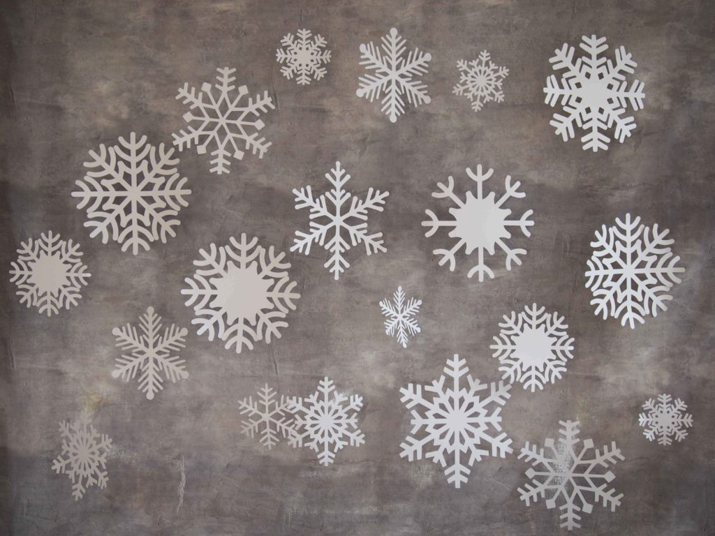flocons des neiges en papier