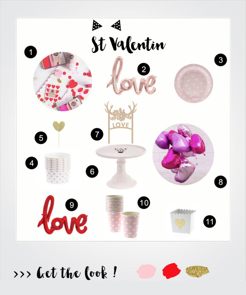 Saint valentin deco fête